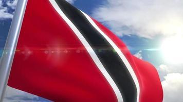agitando bandeira da animação de Trinidad e Tobago
