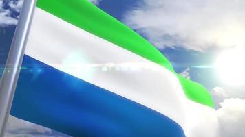 animação da bandeira da serra leoa