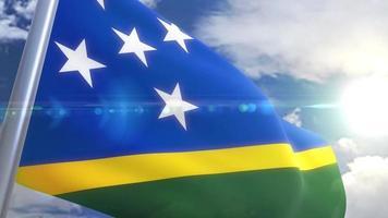 animação da bandeira das Ilhas Salomão