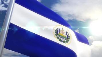 animação da bandeira de el salvador