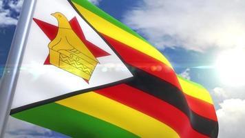 Bandeira da animação do zimbabué