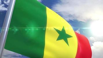 animação da bandeira do senegal