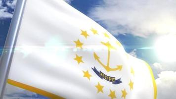 Bandeira do estado de Rhode Island eua