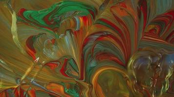 mistura com pequenas ondas de tinta movidas pelo vento video