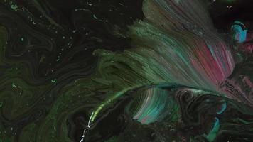 textura de tintas rosa verde e pretas video