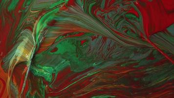 mistura de tintas vermelhas e verdes video