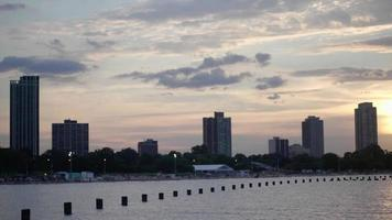 Skyline Of Chicago City From North Avenue Beach Chicago