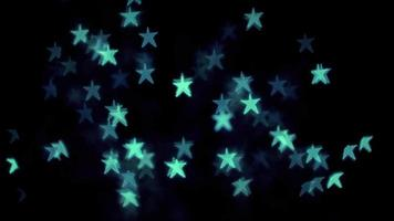 luces bokeh estrella esmeralda video