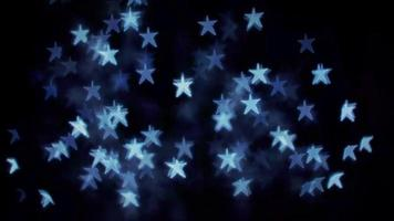 luces bokeh estrella azul