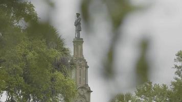 Cerca del monumento confederado en Forsyth Park Savannah Georgia