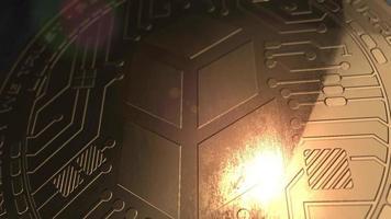 crypto currency bancor coin renderização em 3d blockchain