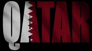 bandeira do qatar com máscara do qatar