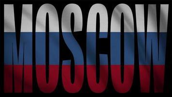 bandera de rusia con máscara de moscú