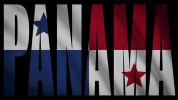 bandeira do panamá com máscara do panamá