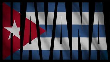 bandeira de cuba com máscara havana