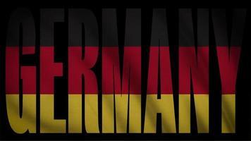 bandera de alemania con máscara de alemania