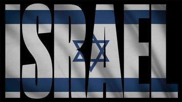 bandeira de israel com máscara de israel