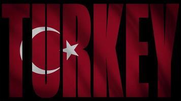 bandeira da Turquia com máscara de peru