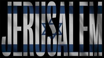 bandeira israel com máscara de jerusalém