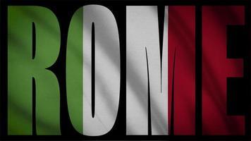 bandera de italia, con, roma, máscara