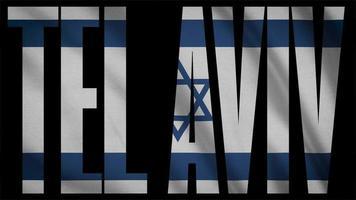 bandeira israel com máscara tel aviv