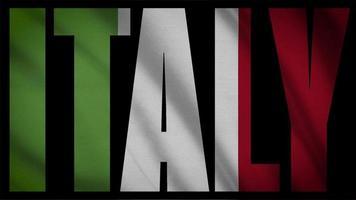 bandera de italia con máscara de italia