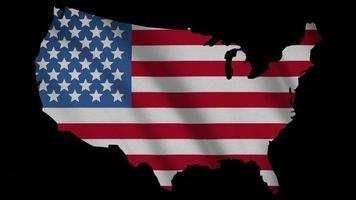 bandera de estados unidos con máscara de mapa