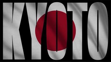 bandeira do japão com máscara de kyoto