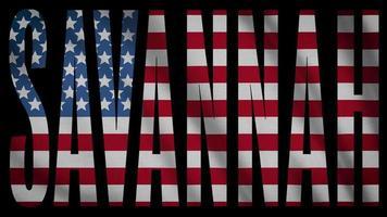 bandera de estados unidos con máscara de sabana