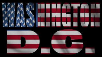 bandera de estados unidos, con, washington dc, máscara