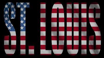 bandeira dos EUA com st. máscara de louis