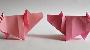 origami de porcos video