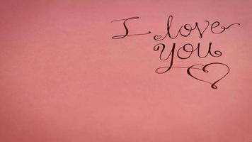 I Love You Lettering With Gifts On Warm Pink Background
