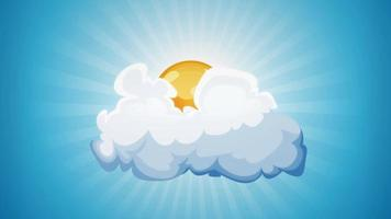 cartoon zon en wolk lus