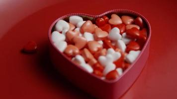 Rotating stock footage shot of Valentine's Day candy - VALENTINES 004