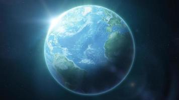 bucle de fondo de planeta tierra hd video