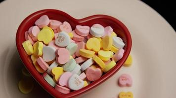 Rotating stock footage shot of Valentine's Day candy - VALENTINES 013