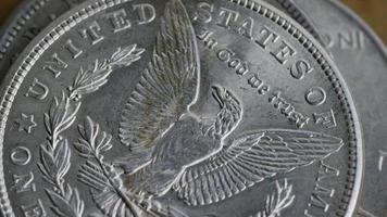 rotação de imagens de estoque de moedas americanas antigas - dinheiro 0106