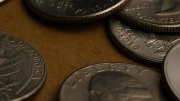 Imágenes de archivo giratorias tomadas de cuartos americanos (moneda - $ 0.25) - dinero 0216