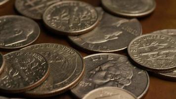 rotação de imagens de estoque de moedas monetárias americanas - dinheiro 0244