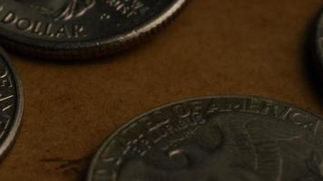 Imágenes de archivo giratorias tomadas de cuartos americanos (moneda - $ 0.25) - dinero 0223