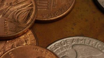rotação de imagens de estoque de moedas monetárias americanas - dinheiro 0275