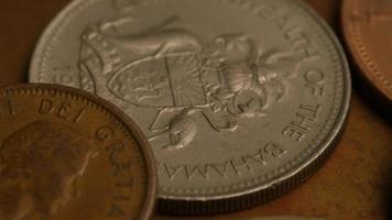 Rotating stock footage shot of international monetary coins - MONEY 0360