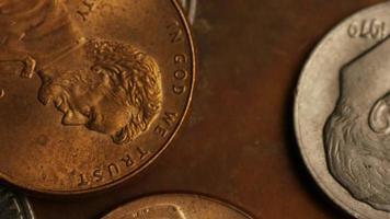 rotação de imagens de estoque de moedas monetárias americanas - dinheiro 0317