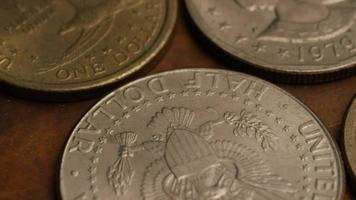 rotação de imagens de estoque de moedas monetárias americanas - dinheiro 0350