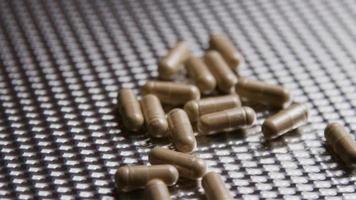 Rotating stock footage shot of vitamins and pills - VITAMINS 0021 video