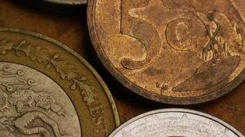 giro estoque metragem tiro de moedas monetárias internacionais - dinheiro 0369