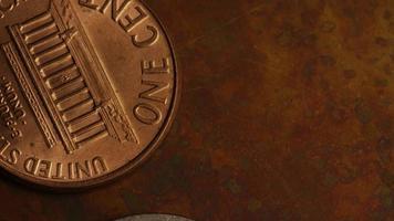 rotação de imagens de arquivo de moedas monetárias americanas - dinheiro 0340