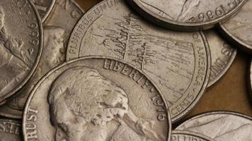 rotação de imagens de estoque de níquel americano (moeda - $ 0,05) - dinheiro 0202