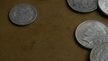 Imágenes de archivo giratorias tomadas de monedas americanas antiguas - dinero 0057